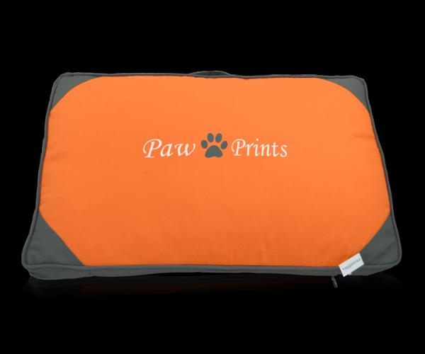 robustes Zooprimus Hundekissen in Orange