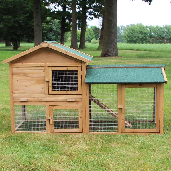 2-stöckiger Kaninchenstall von zooprimus Modell Hasenvilla