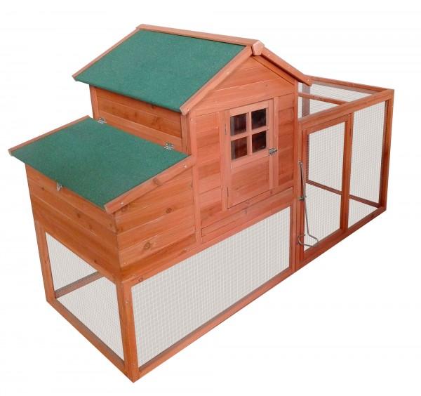 zooprimus Glucke, Hühnerstall, Stall, Hühnerhaus, Zooprimus, Hühnerstall mit Auslauf, Haus für Hühner, Hühnervoliere, Gehege für Hühner, Hühnerhaus, Entenstall, Stall für Hühner oder Enten, Entenstall, Komfort Hühnerhaus