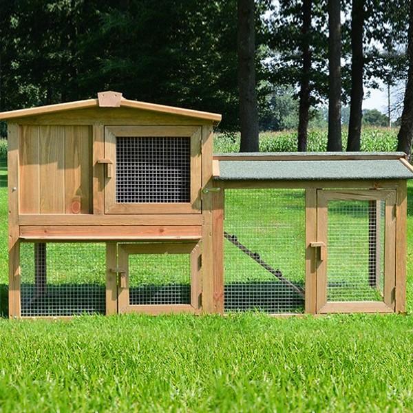 Zooprimus Kaninchenstall/Kleintierstall mit großem Freilauf