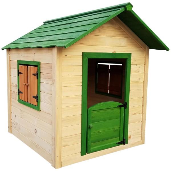 zooprimus Holzspielhaus, Kinderspielhaus, Gartenhaus, Kinderhäuschen, Spielhaus, Kindergartenhaus, Holzhaus, Holzhäuschen