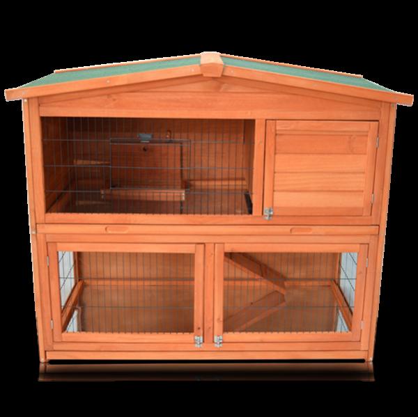 Kaninchenstall Modell Hasenhaus von zooprimus mit 2 Geschossen