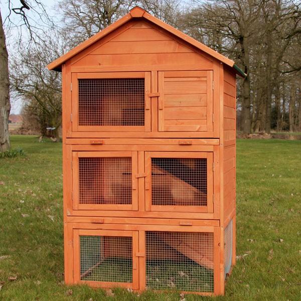 zooprimus hasenstall jumbo mit drei stockwerken viel platz f r ihre kaninchen. Black Bedroom Furniture Sets. Home Design Ideas