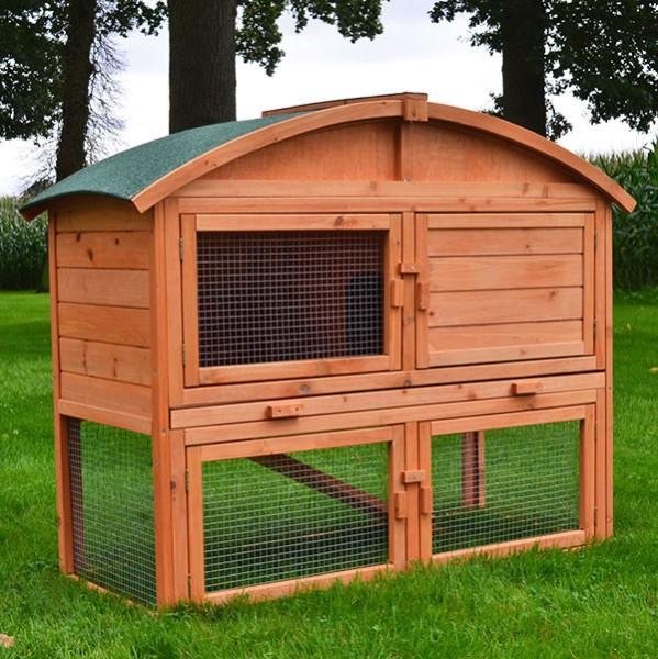 moderner kaninchenstall villa runddach von zooprimus i tolles preis leistungs verh ltnis. Black Bedroom Furniture Sets. Home Design Ideas