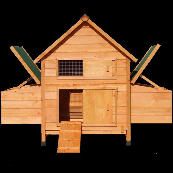 zooprimus Chicken, Hühnerstall, Stall, Hühnerhaus, Zooprimus, Hühnerstall mit Auslauf, Haus für Hühner, Hühnervoliere, Gehege für Hühner, Hühnerhaus, Entenstall, Stall für Hühner oder Enten, Entenstall, Komfort Hühnerhaus