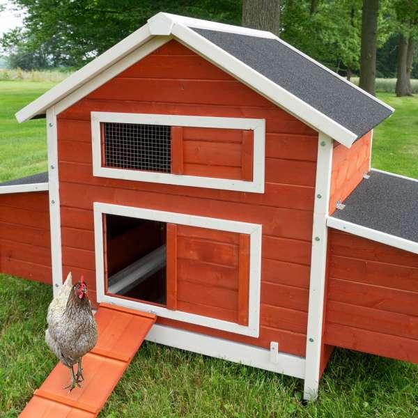 Hühnerstall Betty rot mit oder ohne Auslauf