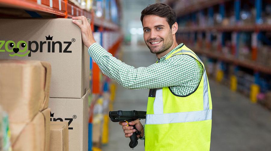 Das große Lager von zooprinz garantiert eine schnelle und zuverlässige Lieferung - So können sicher sein, dass Ihre Ware pünktlich bei Ihnen eintrifft