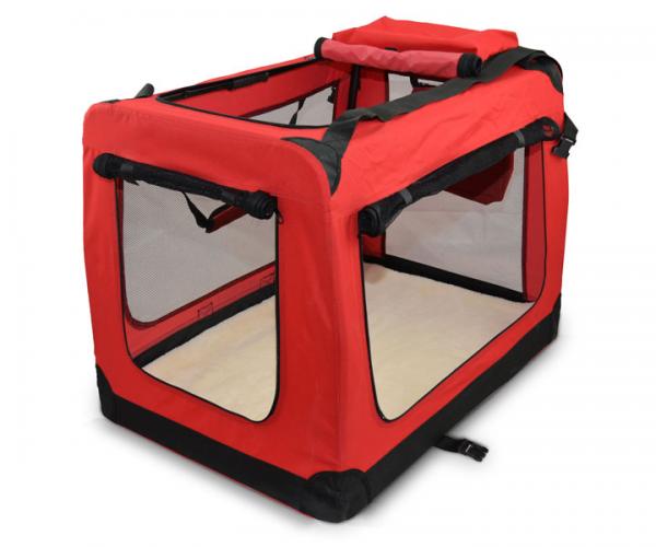 faltbare zooprimus Hundtransportbox mit Reißverschluss Netzeinsätze